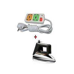 Philips  Philips 1172 - Iron box Dry + a FREE 2-way Socket Extension Cable - Silver By silver normal