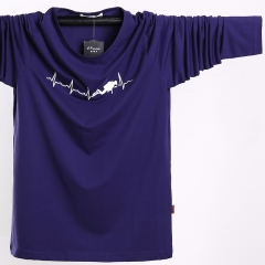 Long-sleeved t-shirt fashion large size large-size men's clothing sweater purple l