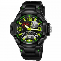 Water Proof Adult Sport Watch Watch Waterproof Watch for Men green 17.15mm*	54.04mm