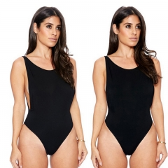 Ladies Harnesses sexy tight body  one-piece swimsuit for Woman and Girls black XXL