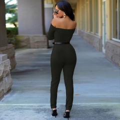 The new was thin fashion sexy Conjoined pants Women 's summer breasts black L