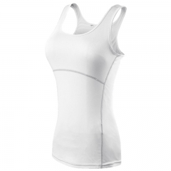 Sports yoga harness vest, tight body thin body exercise clothes white s