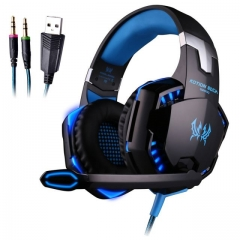 G2000 Gaming Headset Headphone with Mic LED Light for PC PS4 X box One Phone Earphone  Blue