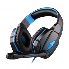 Each G4000 Gaming Headset Headphone with Mic for PC Game Casque d'écoute blue/black
