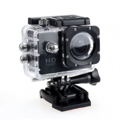 HD 12MP 1080P Helmet Sports Action Waterproof  Video Mini Cam Pro Camera Black Black 2.0 Inch