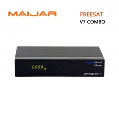 Freesat V7 combo DVB-S2+T2 satellite tv receiver support  cccam bisskey powervu dre  youtube