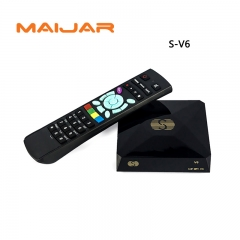 S-V6 Mini Digital Satellite Receiver  with AV HDMI Support 2xUSB WEB TV USB Wifi 3G Biss Key Youporn