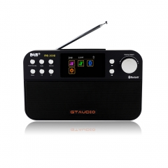 FM/DAB/DAB+ Portable Digital Radio GTmedia DR-103B 2.4 Inch TFT Color Display Bluetooth 4.0