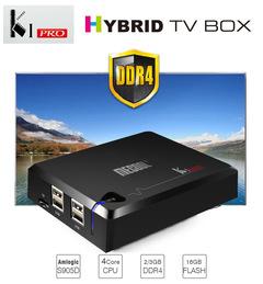 Digital Tv Receiver KI PRO Android +DVB-S2+T2 Amlogic S905D Quad Core Hybird Set Top Box 2G 16G  3D