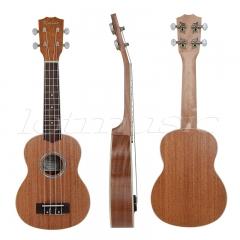 Soprano Ukulele 21 inch Hawaii Guitar Laminated Mahogany Top Abalone Soundhole Rosette Matt W/Bag