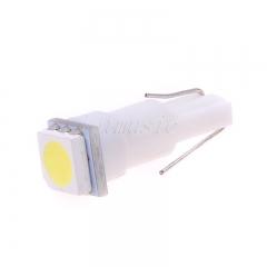 5 pcs/lot T5 Wedge 5050 White SMD Gauge Cluster Speedometer LED Light Bulb