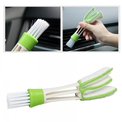 Double Head Car Clean Brush Auto Indoor Air Condition Outlet Window Care Cleaning