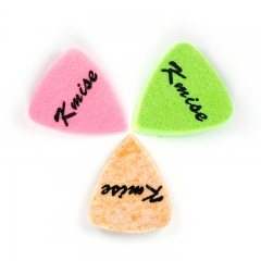 Kmise Felt Picks Pink Orange Green for Ukulele Guitar