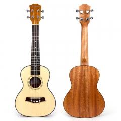 Kmise 23 Inch Concert Ukulele Uke Acoustic Hawaiian Guitar 18 Frets Spurce Wood