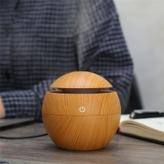 USB Cool Mist Humidifier Ultrasonic Aroma Essential Oil Diffuser for Office Home Bedroom Living Room Light Wood Grain one size