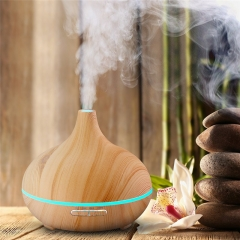 Mist Humidifier Ultrasonic Aroma Essential Oil Diffuser for Office Home Bedroom Living Room light wood grain one size