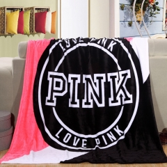 Victoria Secret Thin Blanket Pink VS Home Blanket Manta Fleece Bedding Throws on Bed Sofa Bedspread red 130*150cm