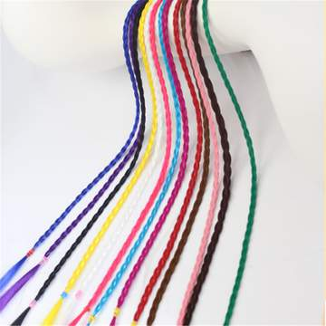 12 Color/Set manual high quality colorful hair dreadlocks Wig Synthetic Hair Extension Fake Hair 12 Color about 50cm