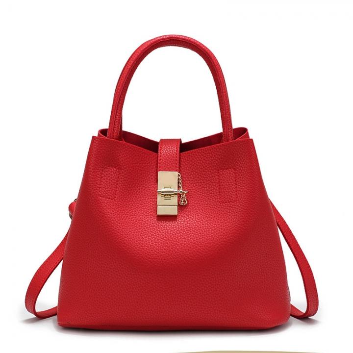 Brand fashion ladies handbags mobile courier women handbags PU leather high quality diagonal bag red 30cm