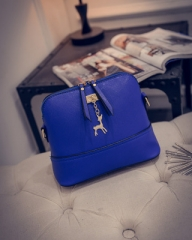 Ladies shoulder bag messenger bag ladies leather shoulder bag well-known brand blue 22X8X18CM