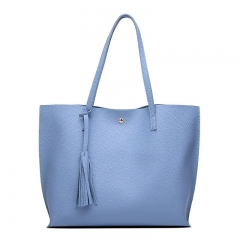 Luxury brand ladies shoulder bag soft leather handbag high grade ladies handbag blue 36X30X11CM