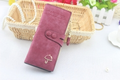 Long ladies wallet luxury brand designer ladies ladies cute lady wallet wallet leather cartelas wine 19.5x8.7x1.5CM