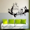 DIY cartoon home wall stickers living room bedroom vinyl wall stickers Black 50*70cm