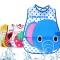 5PCS/Lot Cute Cartoon Baby Soft Bibs Waterproof  Bib Burp Cloths For Children Self Feeding Care For Boys One Size