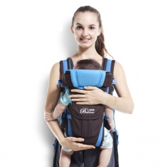 Baby Carrier Breathable Multifunctional Front Facing Infant Comfortable Sling Backpack Pouch Wrap Blue 2-30 Months