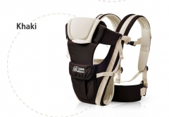Baby Carrier Breathable Multifunctional Front Facing Infant Comfortable Sling Backpack Pouch Wrap Khaki 2-30 Months