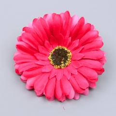 1pcs Women Hair Accessories Bohemian Seaside Fabric Flower Hair Clips Women Dance Headdresses Rose 5cm