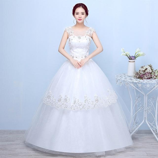 Kilimall: 2017 new two shoulder Korean Bridal Wedding Dresses white ...