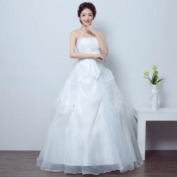 Kilimall: 2017 new wedding dress white flowers Qi bra bra strap out ...