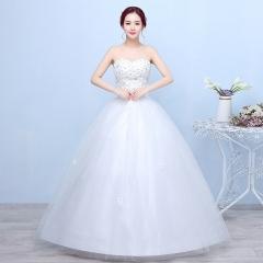 2017 new bride wedding dress neat Korean size slim slim Lace Wedding Veil white s