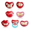 Big Month Funny Dummy Soothing Pacifier Novelty Teeth Lips Baby Child Soother Random Style 2 month +
