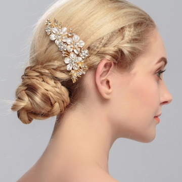 Kilimall unyee woman wedding hair jewelry crystal flower hair pin unyee woman wedding hair jewelry crystal flower hair pin hair decorative accessories golden standard junglespirit Image collections