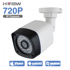 IP Camera 720P 1.0 MP Bullet Outdoor CCTV Cameras Onvif iPhone OS Android Easy Remote Monitoring white uk plug