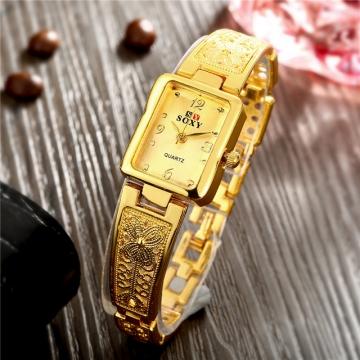 (Silver in Stock)Fashion Watches Dress Watches Quartz Watch Golden Silver Watches Golden