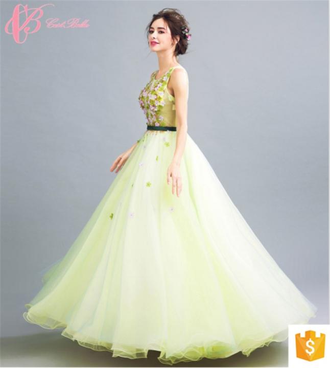 639e104cd1 Gracious Light Green Ball Gown Evening Dress Princess Evening Dress  Cestbella Evening Dress green us 8