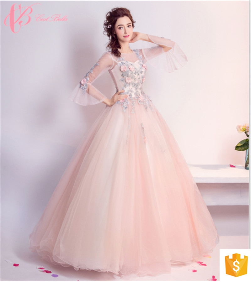 9dfb9e0135 Korean two piece floral chiffon cestbella evening sequence dresses party  wear gowns for ladies pink us 14