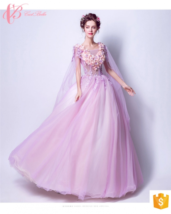 Kilimall: Turkish evening dresses puffy purple ball gown evening ...
