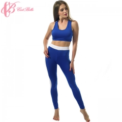 Fitness Gym Sexy Sports Bra Yoga Sets Slimming Pants Ladies Running Leggings Suits blue us 8