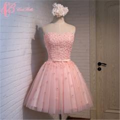 Cestbella Jubilant Endearing Short Off-Shoulder Knee-Length Bridesmaid Dress Pink us  4