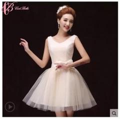 2017 Cestbella Sexy Economic Pretty Erotic Strapless Off-Shoulder Bridesmaid Dress White us 4