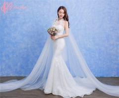 Cestbella Top Design Rhinestone White Embroidered Lace Suzhou Mermaid Wedding Dress White us 4