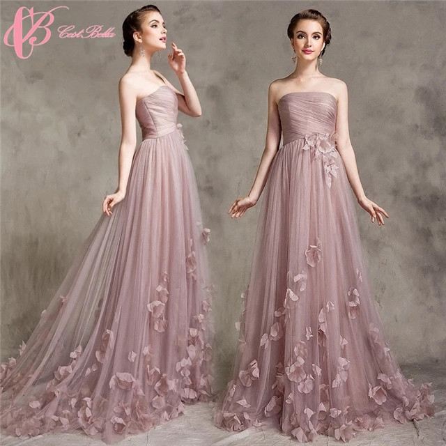 Kilimall: Cestbella Pink A Line Lace Applique Robe De Soiree Evening ...