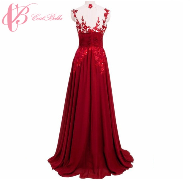 Kilimall: Vibrant Diaphanous Lace Ball Gown Arabic Western Party ...