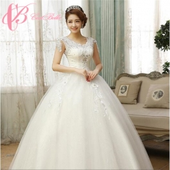 Cestbella Cap sleeve Ball Gown Princess Lace Open Back Wedding Dress White us  8