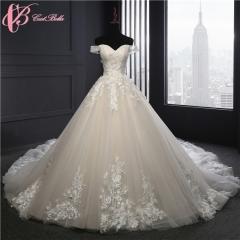Cestbella Gorgeous Fashion Women Design Church Elegant Lady Ball Gown Wedding Dresses White us 4