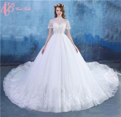 Cestbella Luxury Long Tail White Ball Gown Bridal Wedding Dress White us 4